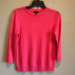 Talbots Cashmere Pink Sweater Size Small